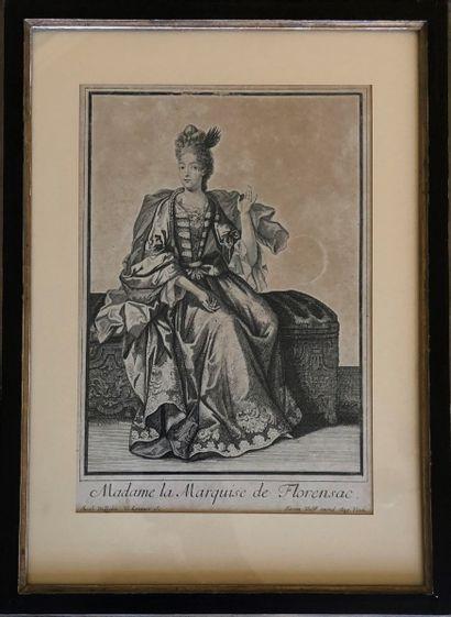 La Marquise de Florensac  Deux gravures en...