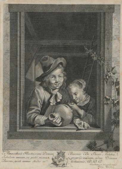 D'après Willem van Mieris (1662-1747)  Les...
