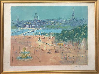 Jean DUFY (1888-1964)  Place de la Concorde...