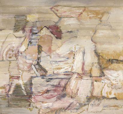 Louis NALLARD (1918-2016)  Sans titre  Huile...
