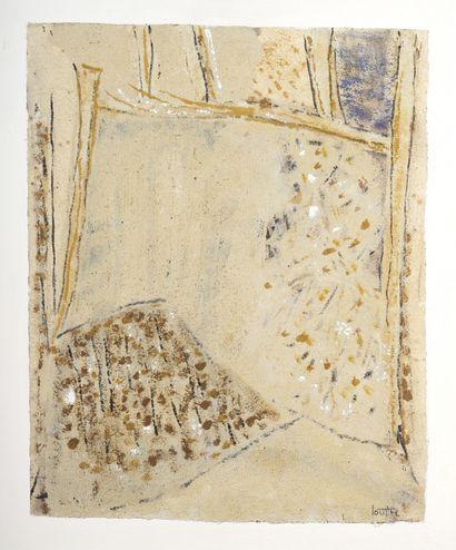 LOUTTRE-BISSIÈRE (1926-2012)  Peinturelle...