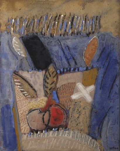 LOUTTRE-BISSIÈRE (1926-2012)  Pommes au sofa,...