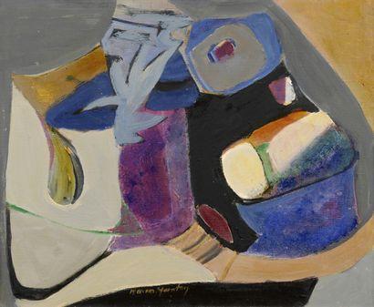 Maria MANTON (1910-2003)  Le chat et l'oiseau,...