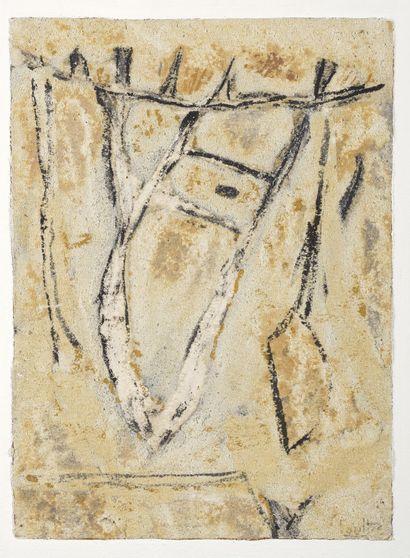 LOUTTRE-BISSIÈRE (1926-2012)  Une panne d'air...