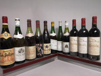 11 bouteilles VINS DIVERS France  A VENDRE...