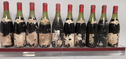10 bouteilles GEVREY CHAMBERTIN - HUGUENIN...