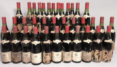36 bouteilles SANTENAY - HUGUENIN PF 1964...
