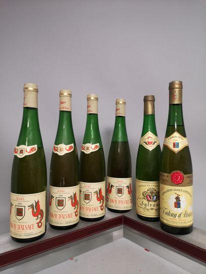 6 bouteille VINS D'ALSACE  A VENDRE EN L'ETAT...