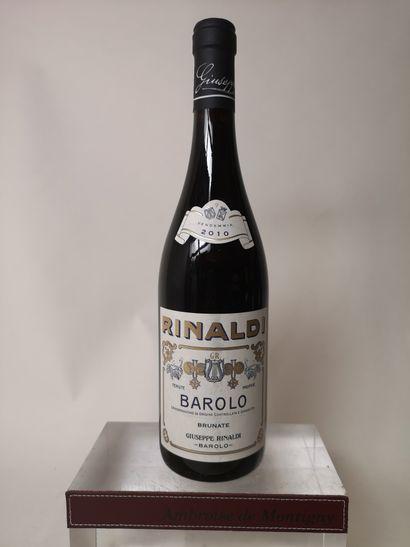 1 bouteille BAROLO Brunate - Giuseppe RINALDI...