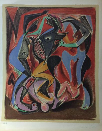 André MASSON (1896-1987)  Sans titre  Lithographie...