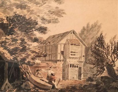 Ecole hollandaise de la fin du XVIIIe siècle...