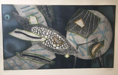 Henri GOETZ (1909-1989)  Sans titre  Lithographie...