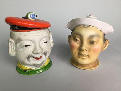 Tête de marin chinois souriant avec béret....