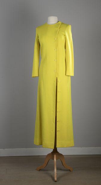 LANVIN  Robe manteau en lainage tournesol,...