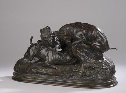 Pierre Jules MENE (1810-1879)  Chasse au...