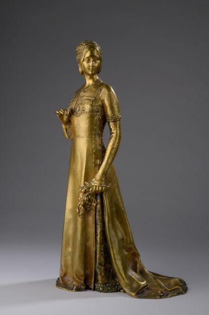 Alexandre CLERGET (1856-1931)  Jeune femme...