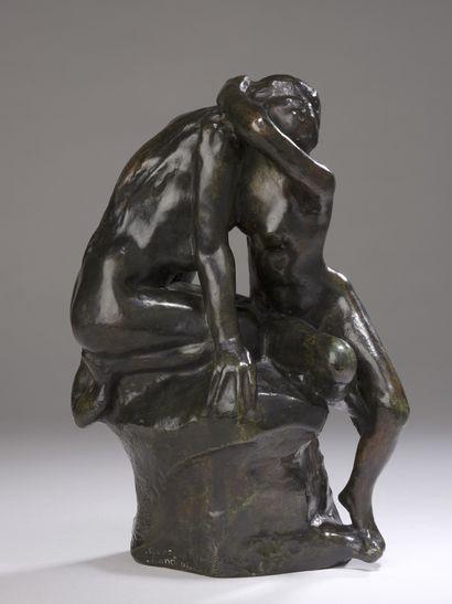 Auguste RODIN (1840-1917)  Jeune fille confiant...