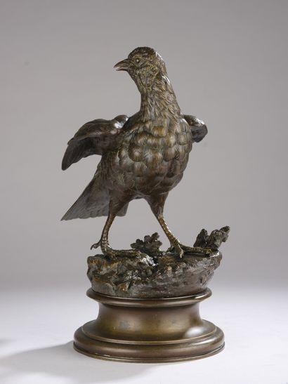 Alexandre LEONARD (1821-1877)  Perdrix  Bronze...