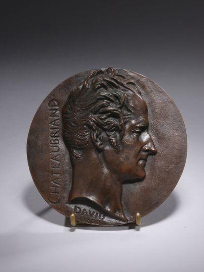 David D'ANGERS (1788-1856)  Portrait de profil...