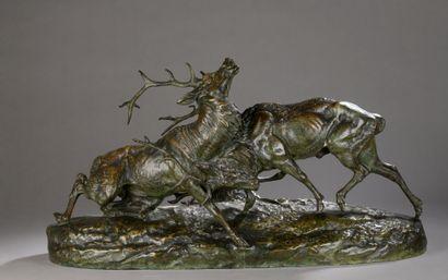 Clovis Edmond MASSON (1838-1913)  Combat...