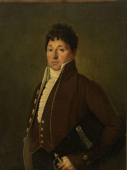 École du début du XIXe siècle  Portrait d'homme...