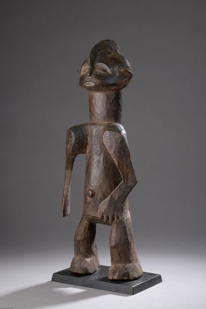 MONTOL STATUE (?), Nigeria  Wood with a brown...