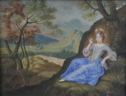 Pierre FILLOEUL (1696 - 1754)  Jeune femme...