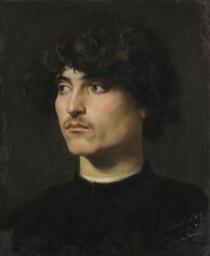 Louis Edouard FOURNIER (1857-1917)  Portrait...