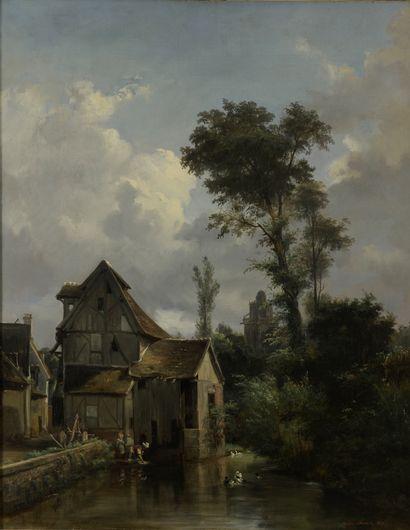 Amédée FAURE (1801-1878)  Les lavandières....