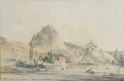 Attribué à Louis Gabriel MOREAU (1740-1806)...