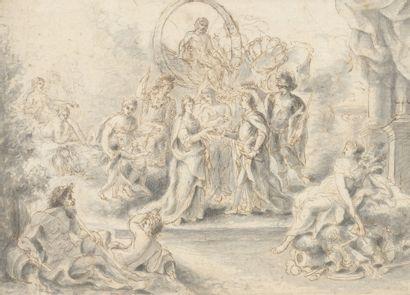 Attribué à Pierre Antoine BAUDOIN (1723-1769)...
