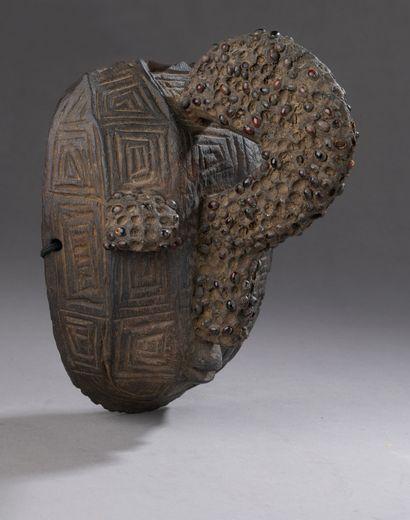 IJO MASK (?), Nigeria  Medium-hard wood with...