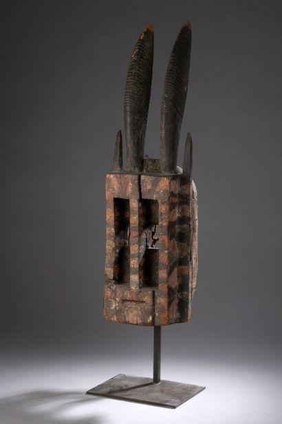 WALU DOGON MASK, Mali  Hard wood with brown...