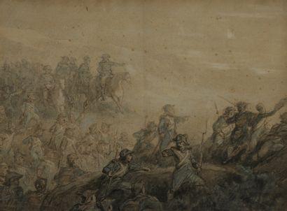 Attribué à Auguste RAFFET (1804-1860)  Bonaparte...