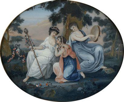 École ALLEMANDE vers 1760  Le concert amoureux...