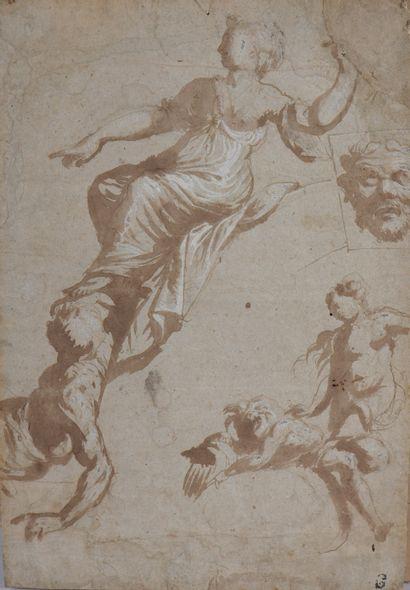 École ITALIENNE du XVIIe siècle  Etudes de...