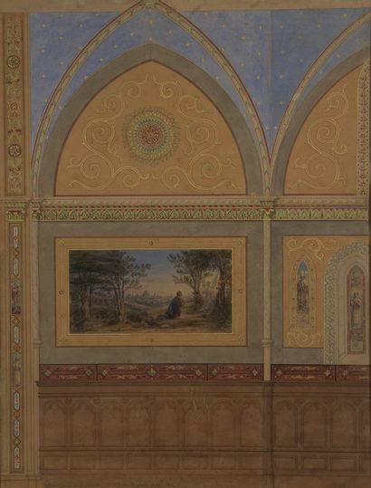 Étienne RAFFORT (1802-1895)  Décoration pour...
