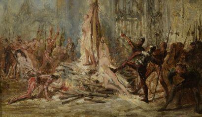 Adolphe MONTGALLET (1816-1850)  Scène de...