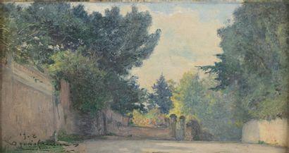 Louis QUENTIN (XIXe siècle)  Le quartier...