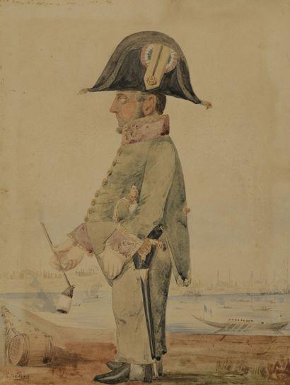 E. de PLACE (XIXe siècle)  Le capitaine de...