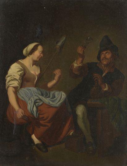 École HOLLANDAISE du XVIIIe siècle, suiveur...