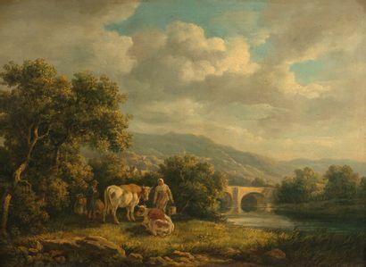 Henry MILBOURNE (1781-1826)  Bergers et bergères...