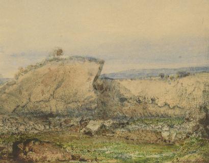 Eugène CICERI (1813-1890)  Paysages aux rochers...