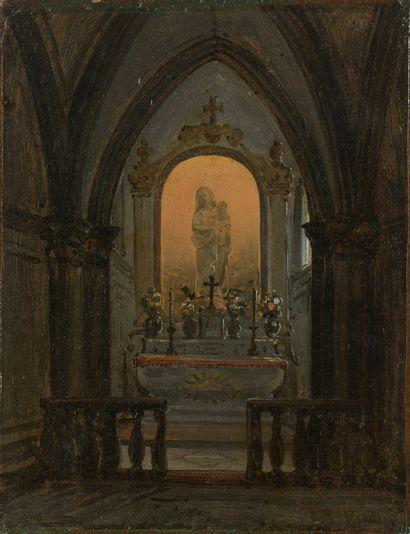 Giuseppe VISIONE (c1800-c1870)  Intérieur...