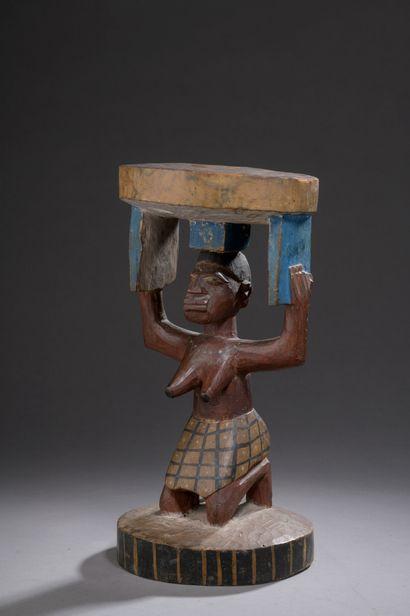 CARYATIDE NAGO YOROUBA SEAT, Nigeria/Benin...