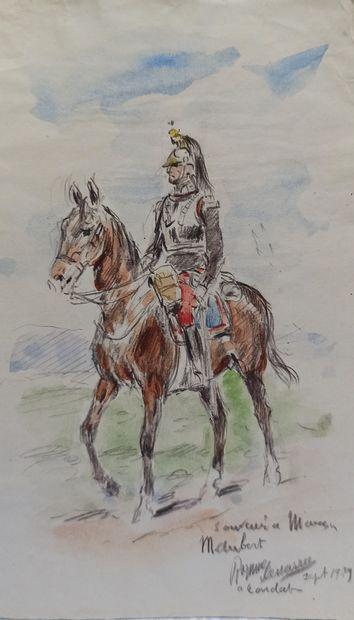 Jules DRANER (1833-1926)  Officier et élégantes...