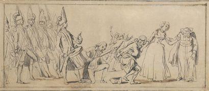 Ecole ANGLAISE fin XVIIIème siècle  Le vaccin...