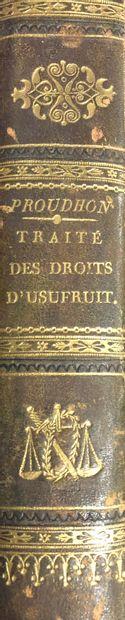 Lot de varia dont : Proudhon. Traité des...