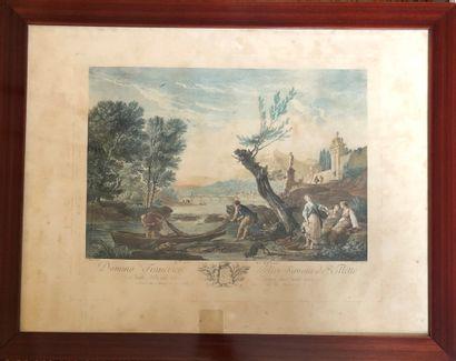 D'après Joseph VERNET (1714-1789)  Deux gravures...