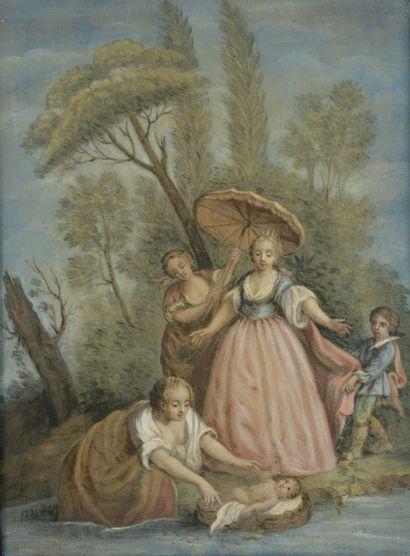 Ecole ITALIENNE du XVIIIème siècle  Moïse...